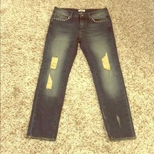 Zadig & Voltaire Distressed Studded Straight Jeans